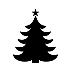 Christmas tree graphic art design. New Year fir tree. Vector and illustration