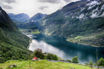 Beautiful landscape.Travel in Norway