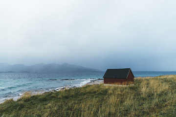 Lonely shed in North Norway