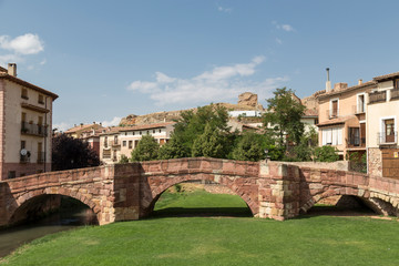 Romanesque bridge over the river Gallo, Molina de Aragón, Guadalajara, Spain