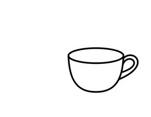 ティーカップ(線画)