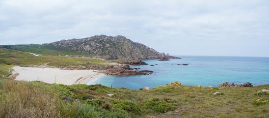 Región del Cabo Vilan en la costa de la Muerte , Camariñas, en la provincia de La Coruña. Verano de 218