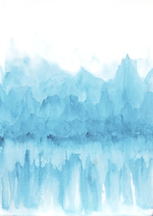 Watercolor background - Ice Mountains