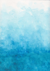 Fototapeta abstract blue watercolor background obraz