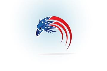 Independence Day Eagle Flag symbol logo
