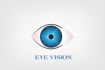 Eye vision vector logo