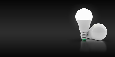 LED light bulb on an isolated background