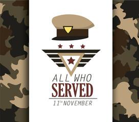 policeman cap symbol to veterans day