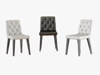 Capitone three chair 3d rendering