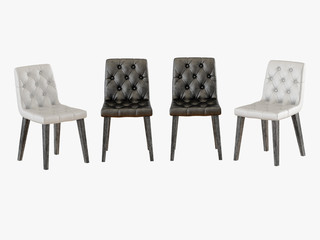 Capitone four chair 3d rendering