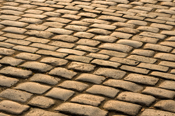 old stone pavement in the sun