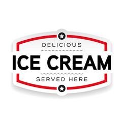 Ice Cream label sign vintage
