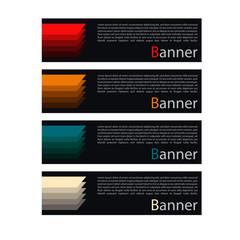 Vector design banner web template