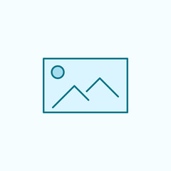 picture 2 colored line icon. Simple colored element illustration. picture outline symbol design from web icons set