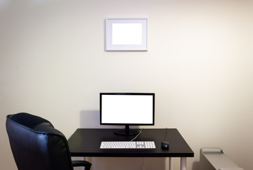 Office Computer Desk Mockup