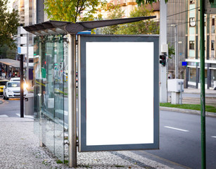 Bus Stop Advertisement Mockup