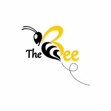 FB F B Initial Green Yellow Bee Logo Vector