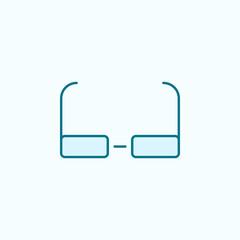 glasses 2 colored line icon. Simple colored element illustration. glasses outline symbol design from Scientifics study set