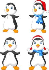 Cartoon Christmas penguin collection