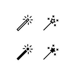 Magic Stick Icon Logo Vector Symbol. Magic Wand Icon
