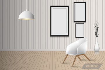 Living room interior design and decorative, Vector, Illustration