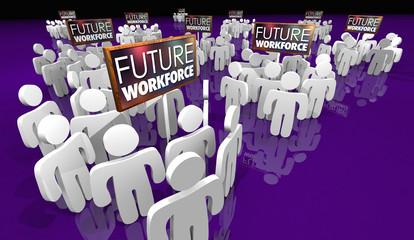 Future Workforce Sign People Staff 3d Illustration