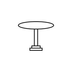 bistro table icon. Element of outline furniture icon. Thin line icon for website design and development, app development. Premium icon