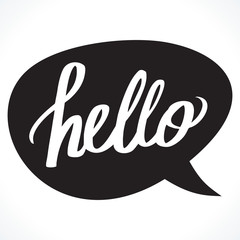 Hello illustration vector
