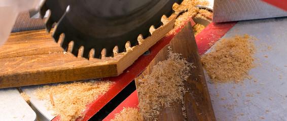 Wood cut background circular saw