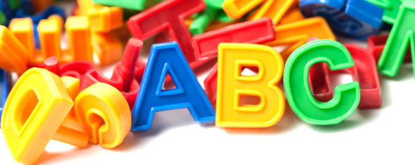 colorful alphabet letters plastic