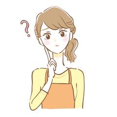 エプロン女性 疑問