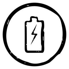 Batteryr icon vector illustration on white background.