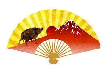 亥 富士山 年賀状 アイコン