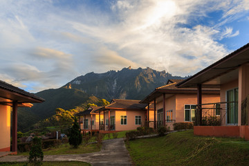 Mount Kinabalu view form Dream World Resort, Kundasang, Sabah, Borneo