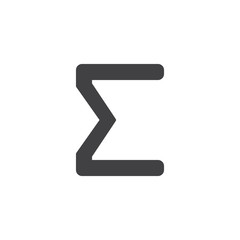 Sigma letter vector icon. filled flat sign for mobile concept and web design. Greek alphabet symbols simple solid icon. Symbol, logo illustration. Pixel perfect vector graphics