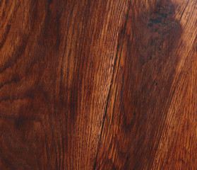 Old wooden table. Dark brown color of background.