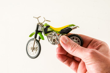 Close-up of cross motorbike motorcycle toy