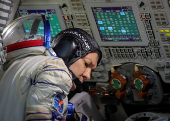 Crew member of the International Space Station (ISS) cosmonaut Oleg Kononenko of Russia attends the final qualification training for upcoming space mission in Star City near Moscow