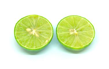 Close-up Lemon Studio shot Isolated On white background