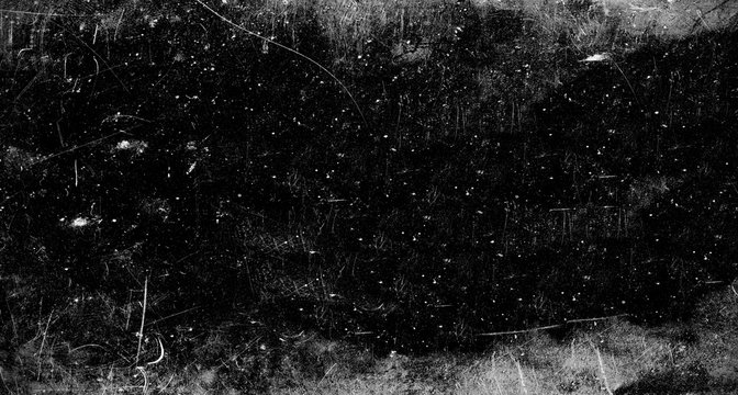 Dark scratched grunge background, old film effect