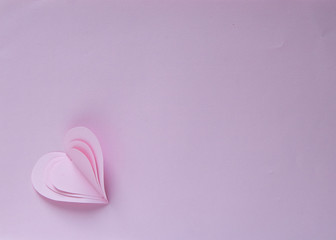 Paper hearts Valentines day card