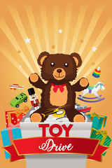 Toy Drive Brochure Illustration