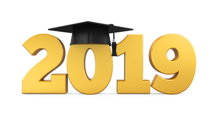 2019 Graduation Cap Isolated
