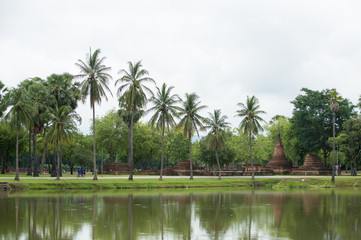 Sukhothai Historical Park, Unesco world heritage. of Thailand .