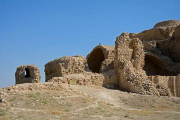 Recess Fitting Ruins Palace of Ardashir, Firuzabad, Iran