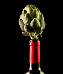Alcachofa y vino