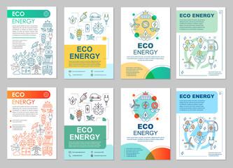 Eco energy brochure layout