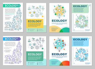 Ecology brochure layout
