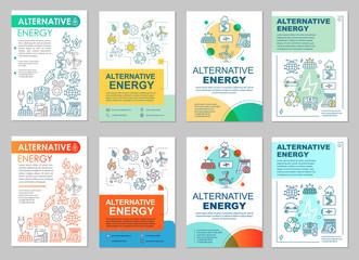 Alternative energy brochure layout