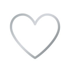 Silver Heart Icon. Vector Line.